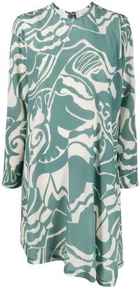 Alysi Abstract Print Dress