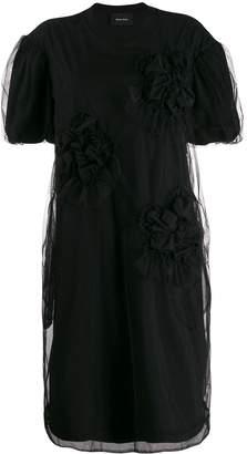 Simone Rocha ruched-detail T-Shirt dress