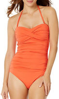 Anne Cole Live In Colortwist Shirred Halterneck One-Piece Swimsuit