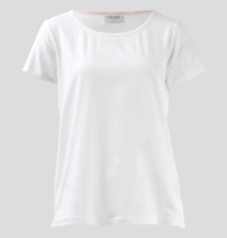 Wallace Cotton - White Elsa Short Sleeve Tee - M - White