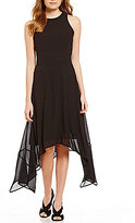 MICHAEL Michael Kors Georgette Sharkbite Hem Dress