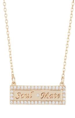 Lulu DK Soulmate CZ Bar Necklace