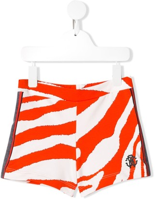 Roberto Cavalli Junior Side Panelled Zebra Shorts
