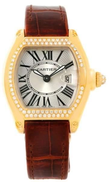 Cartier Roadster WE500160 18K Yellow Gold Diamond 31mm Womens Watch
