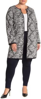 Calvin Klein Long Sleeve Printed Knit Jacket (Plus Size)