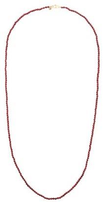 Rosa de la Cruz Garnet & 18kt Gold Beaded Necklace - Burgundy