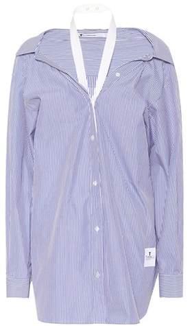 Alexander Wang Striped cotton poplin shirt