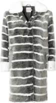 Urban Code Urbancode faux fur striped coat