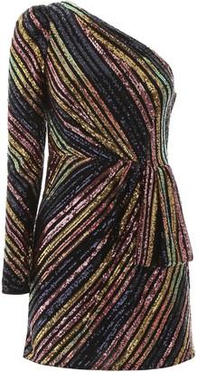 Self-Portrait SEQUINS MINI DRESS 12 Black, Pink, Gold