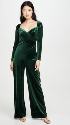 Norma Kamali Sweetheart Side Drape Jumpsuit