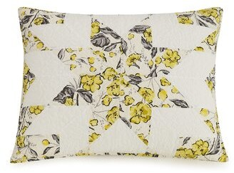 Vera Bradley Hummingbird Blooms Star 100% Cotton Envelope Sham Size: King