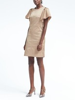 Banana Republic Flutter-Sleeve Fit-and-Flare Dress
