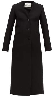 Jil Sander Single Breasted Wool Coat - Womens - Black