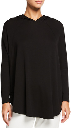 PJ Harlow Tara Rib-Knit Hooded Sweatshirt
