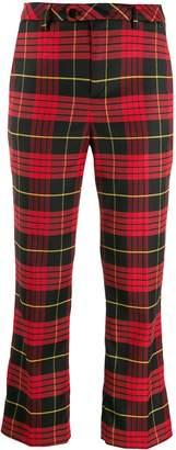 Twin-Set cropped tartan trousers