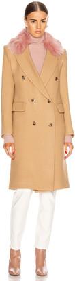 Smythe Cape Effect Versatile Coat in Camel & Pink | FWRD