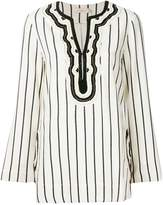 Tory Burch rayon striped tunic