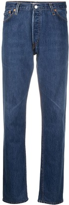 RE/DONE Five-Pocket Straight-Leg Jeans