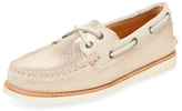 Sperry Gold Cup Metallic Embossed Leather Boat Shoe