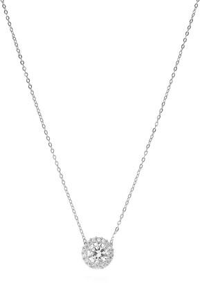 Cz By Kenneth Jay Lane CZ Pave Pendant Necklace