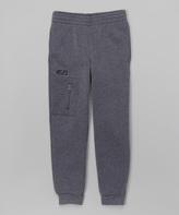 CB Sports Charcoal & Black Zip Pocket Sweatpants - Kids & Tween