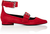 Opening Ceremony Women's Ankle-Strap Suede Flats-RED