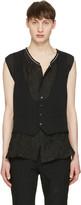 Comme des Garcons Black Wool Vest