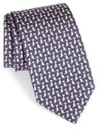 Salvatore Ferragamo Men's Augusto Dog Print Silk Tie