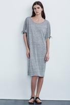 Anwen Linen Knit Knot Sleeve Dress