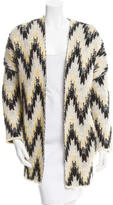Maje Oversize Patterned Knit Cardigan w/ Tags