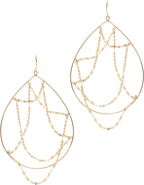 Lana Oval Web Hoop Earrings
