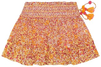 Poupette St Barth Kids Irma floral cotton skirt
