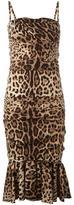 Dolce & Gabbana leopard print peplum dress - women - Silk/Spandex/Elastane/Cotton/Polyamide - 40