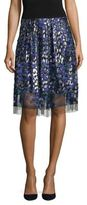 Elie Tahari Nicolette Floral Embroidered Skirt