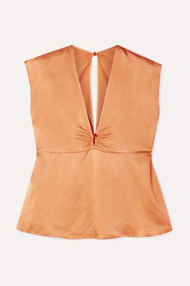 Forte Forte forte_forte - Hammered Silk-satin Top - Orange