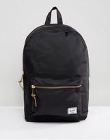 Herschel Settlement Zip Pocket Backpack In Black