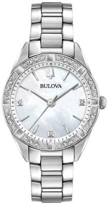 Bulova Women's 1/10 ct tw Diamond Case Watch