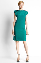 Lanvin Flower Embellished Jersey T-Shirt Dress