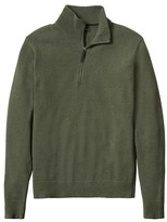 Banana Republic Italian Wool-Blend Half-Zip Pullover