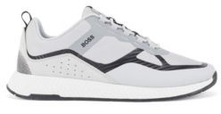 HUGO BOSS Hybrid Trainers With Suede Overlays - Black