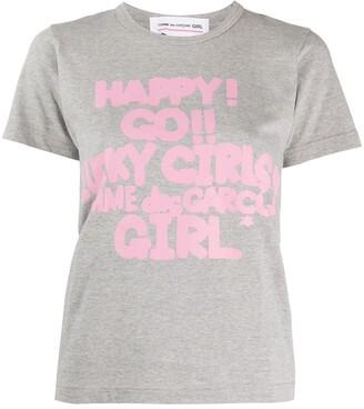 Comme des Garcons graphic-print cotton T-shirt