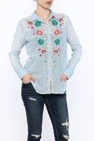 3J Workshop Blue Embroidered Shirt