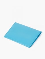 Comme Des Garcons Wallet Blue Leather Cardholder