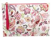 Etro Leather-Trimmed Printed Clutch w/ Tags