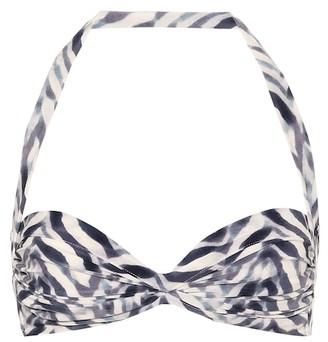 Norma Kamali Bill zebra-print bikini top
