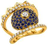 Kenzo 23692010205 Gold Plated & CZ Ring