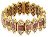 Amrapali 22K Yellow Gold, Tourmaline & 4.85 Total Ct. Diamond Bracelet