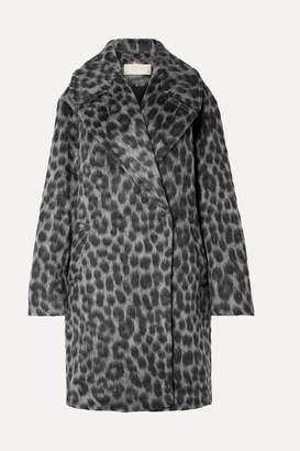 MICHAEL Michael Kors Oversized Leopard-print Faux Fur Coat - Gray