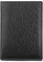 John Lewis Katta Aniline Leather Shirt Wallet, Black