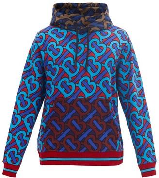 Burberry Manslow Tb-print Cotton-jersey Hooded Sweatshirt - Multi